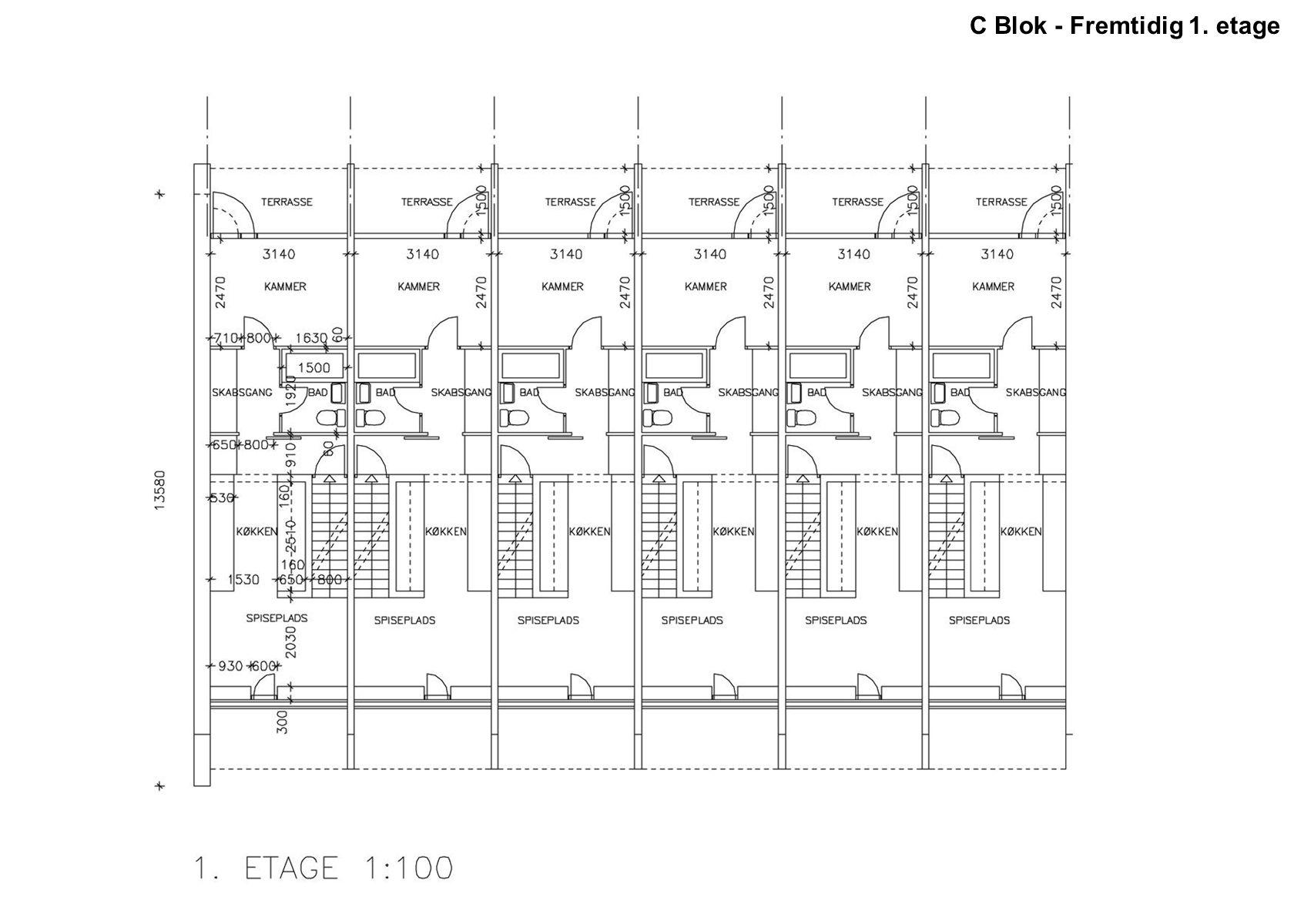 C Blok - Fremtidig 1. etage