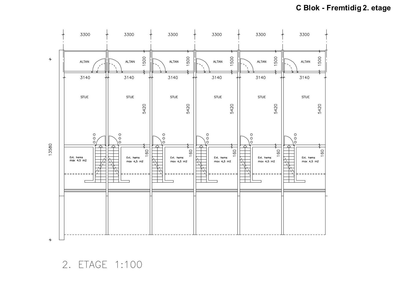 C Blok - Fremtidig 2. etage