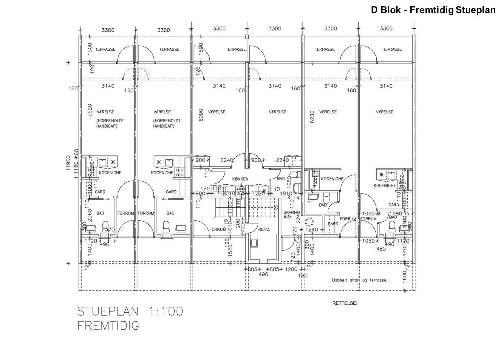 D Blok - Fremtidig Stueplan