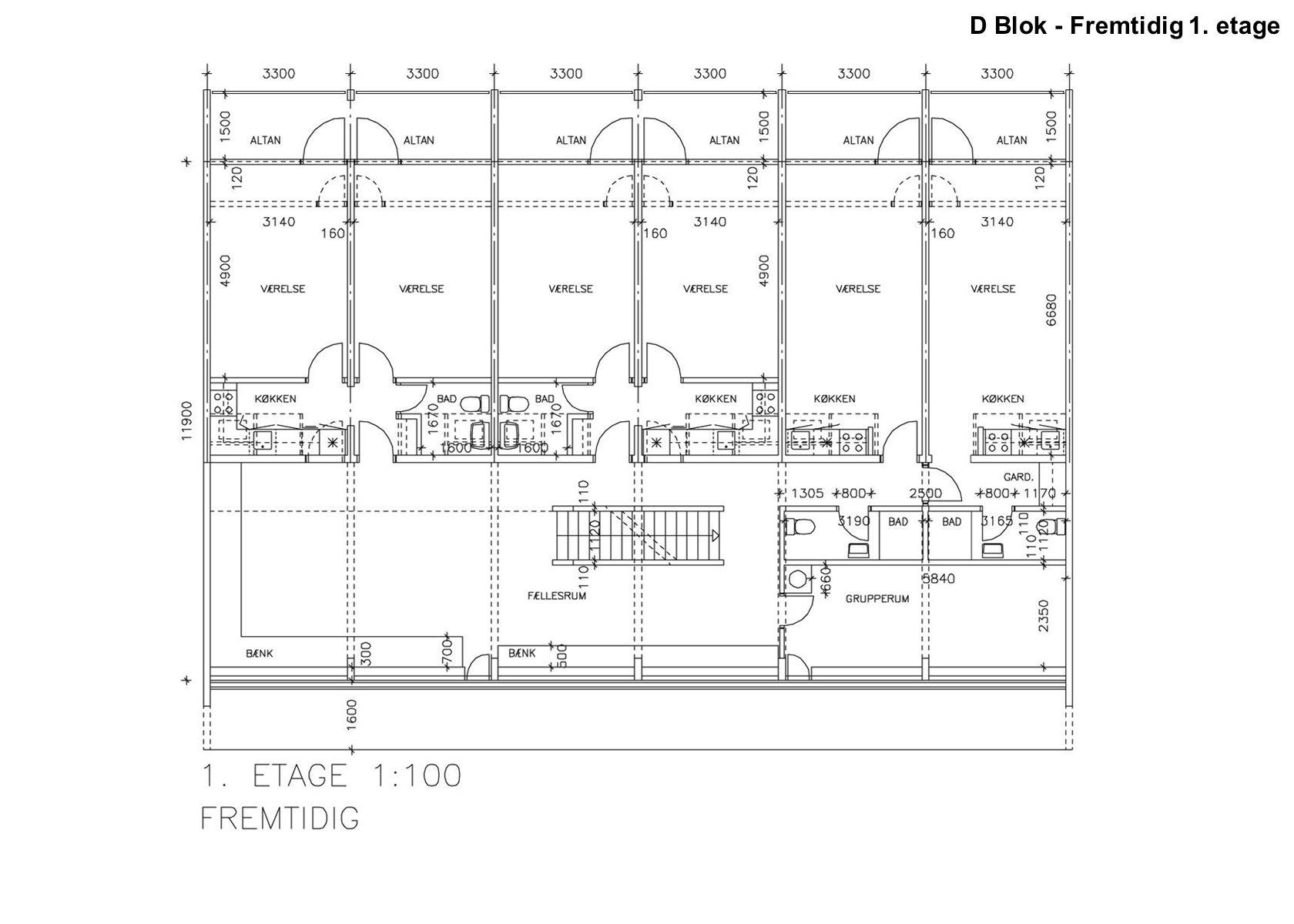 D Blok - Fremtidig 1. etage