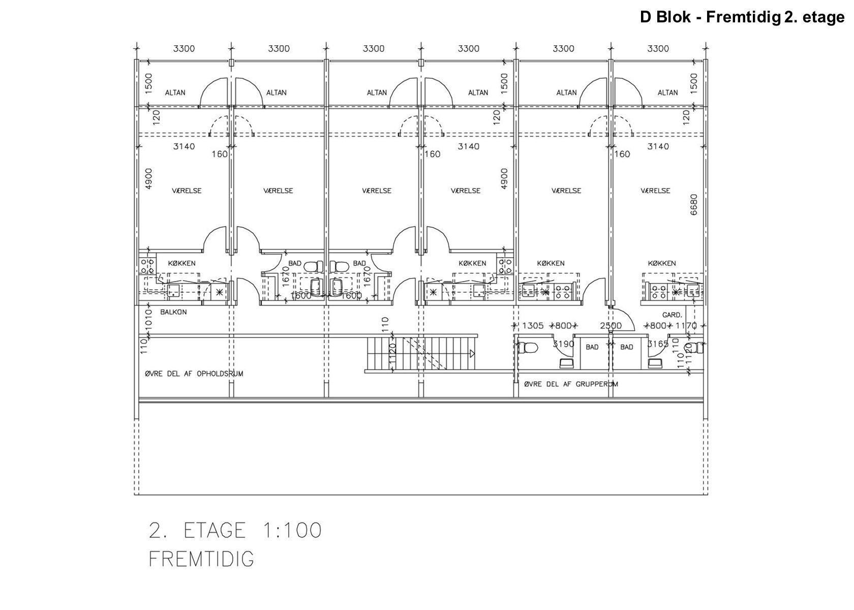 D Blok - Fremtidig 2. etage