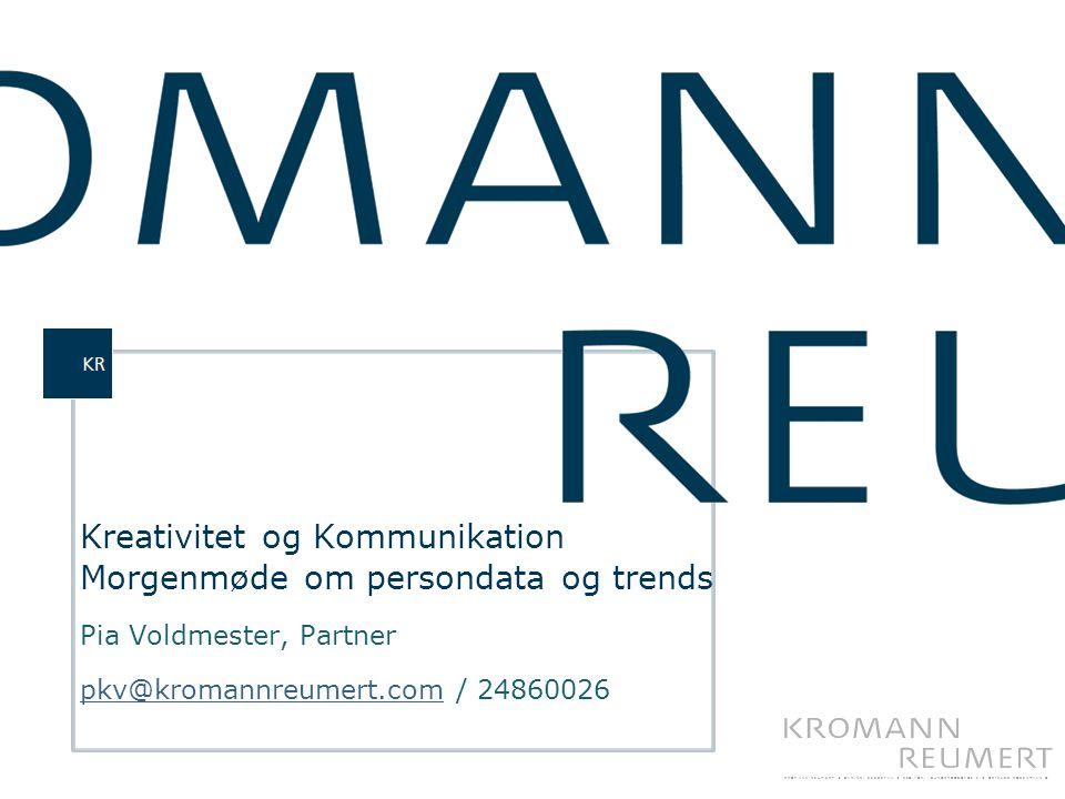 Kreativitet og Kommunikation Morgenmøde om persondata og trends