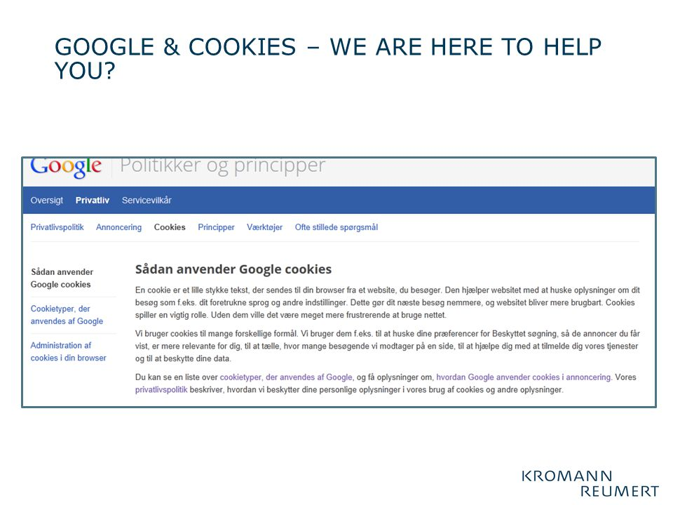 GOOGLE & COOKIES – we are here to help you