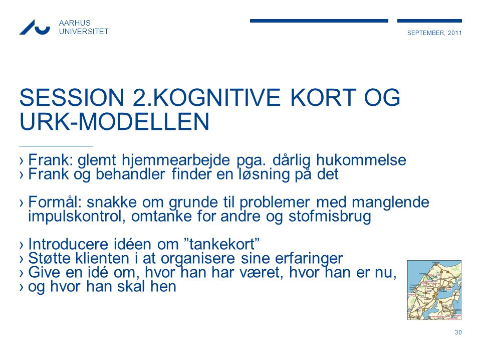 SESSION 2.KOGNITIVE KORT OG URK-MODELLEN