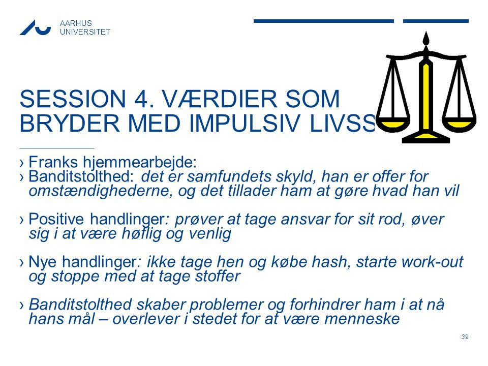SESSION 4. VÆRDIER SOM BRYDER MED IMPULSIV LIVSSTIL