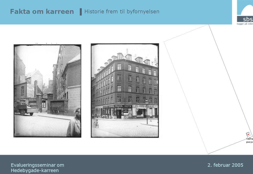 Fakta om karreen Historie frem til byfornyelsen