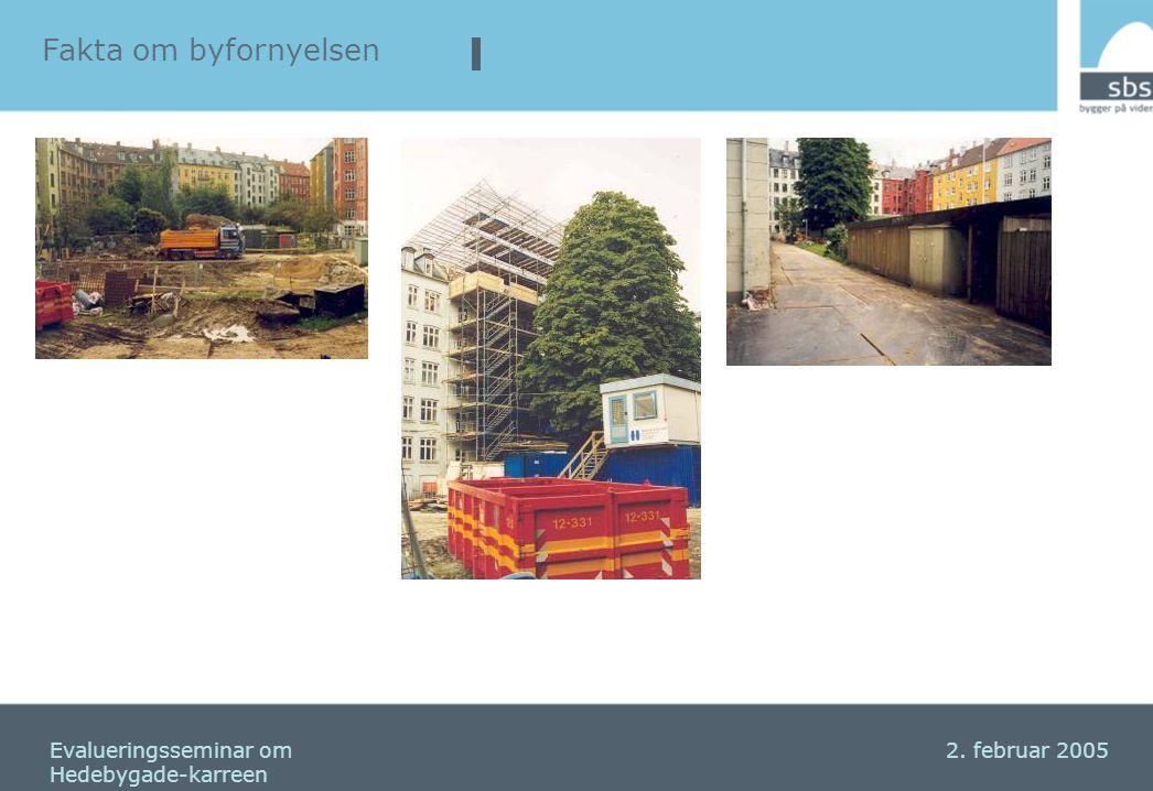 Fakta om byfornyelsen Seminar om Hedebygadekarreen