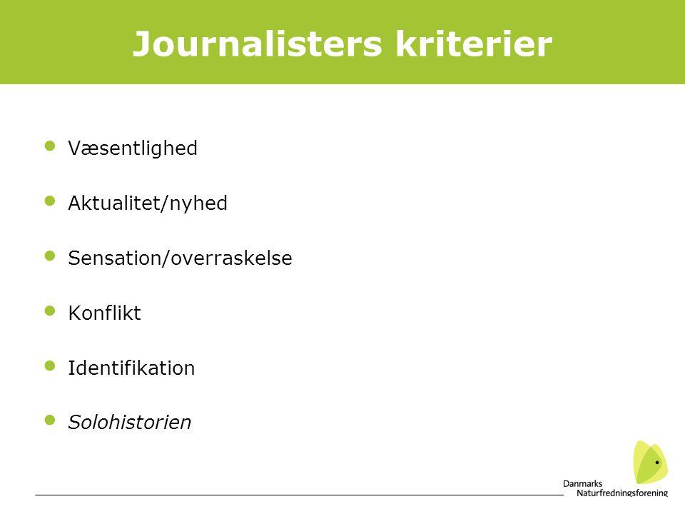 Journalisters kriterier