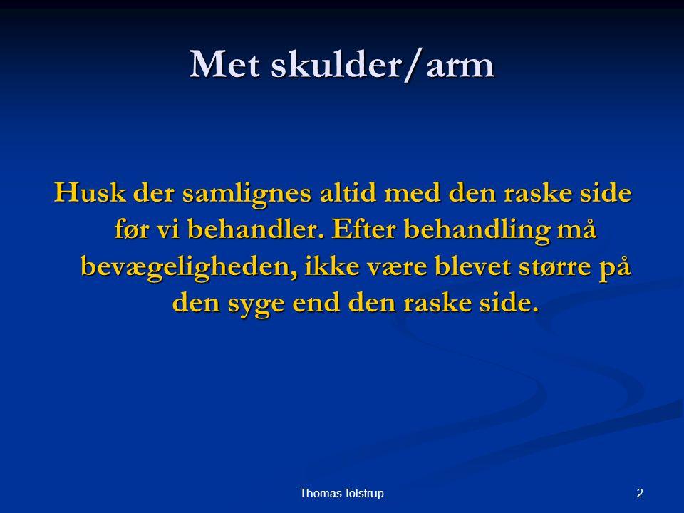 Met skulder/arm