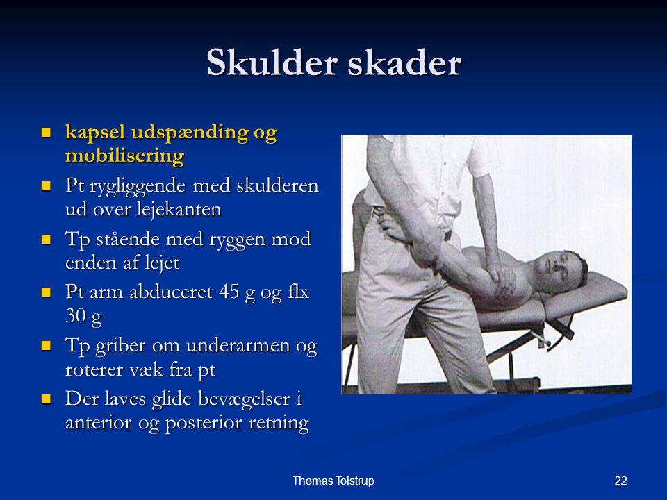 Skulder skader kapsel udspænding og mobilisering