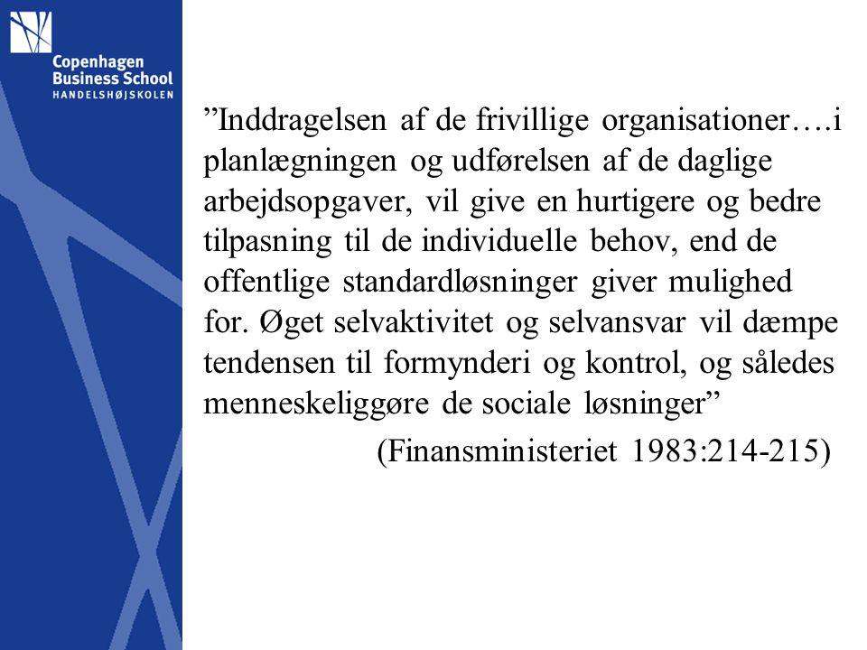 Inddragelsen af de frivillige organisationer…