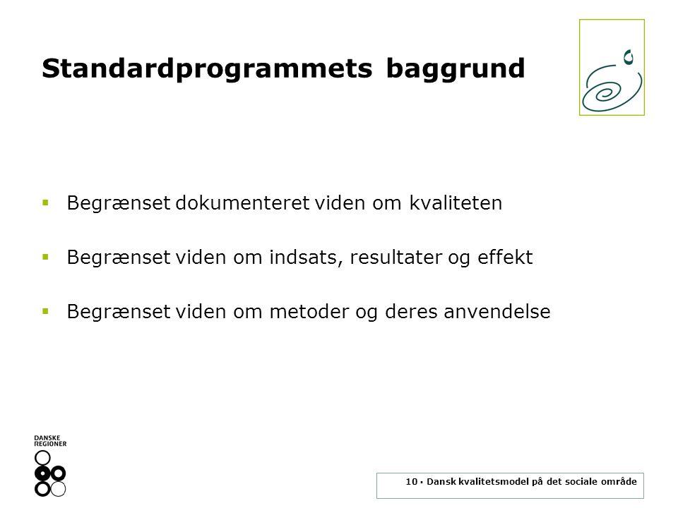 Standardprogrammets baggrund
