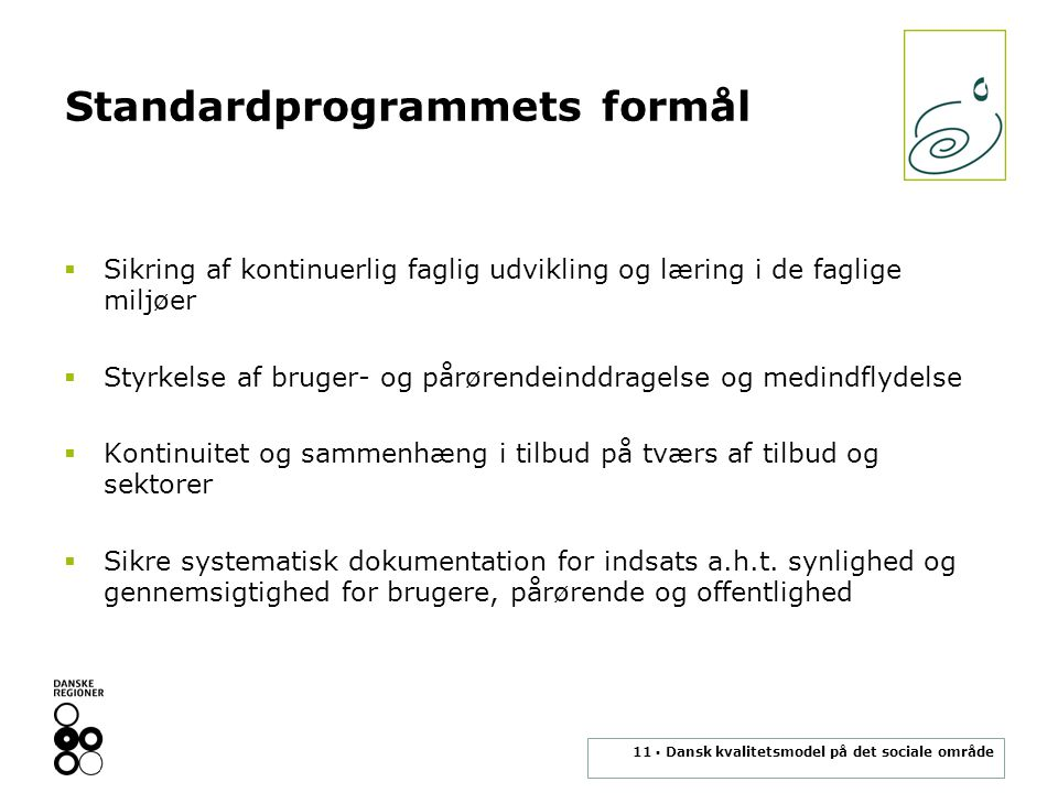 Standardprogrammets formål