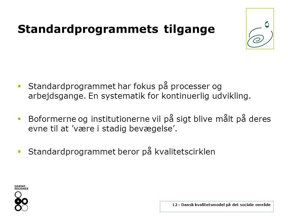 Standardprogrammets tilgange