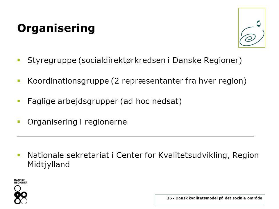 Organisering Styregruppe (socialdirektørkredsen i Danske Regioner)