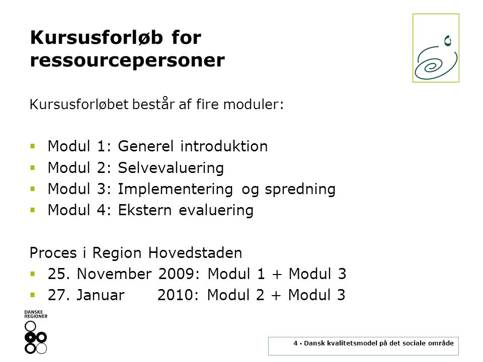 Kursusforløb for ressourcepersoner