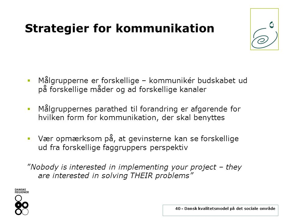Strategier for kommunikation