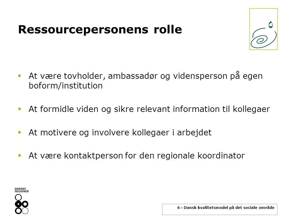 Ressourcepersonens rolle