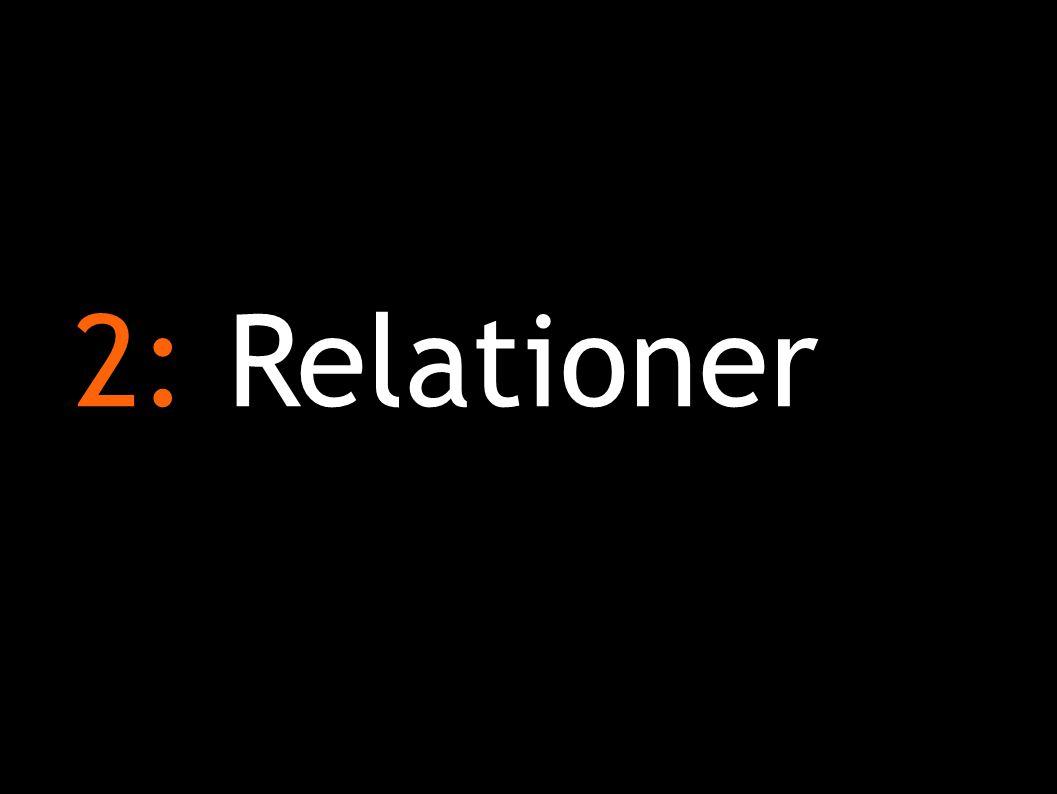 2: Relationer