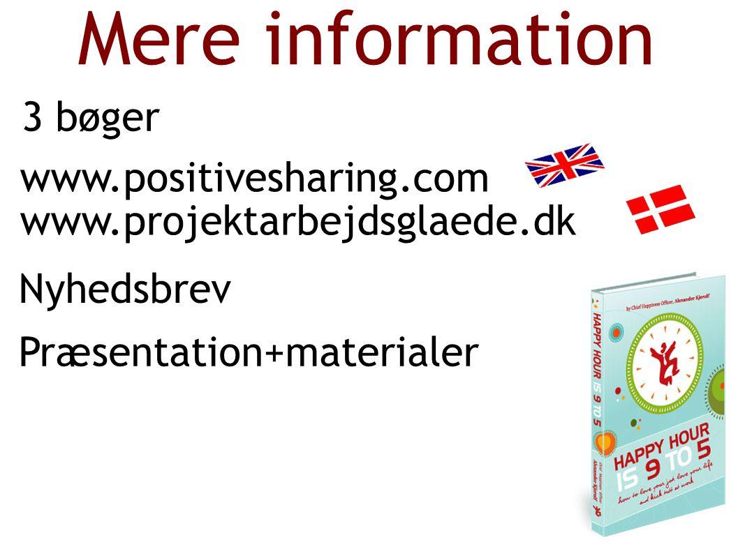 Mere information 3 bøger www.positivesharing.com