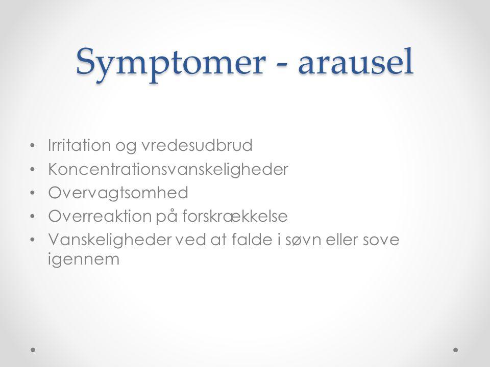Symptomer - arausel Irritation og vredesudbrud