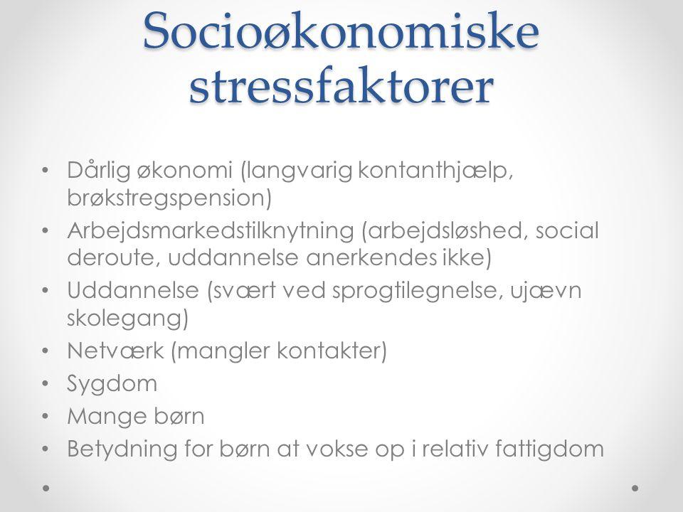 Socioøkonomiske stressfaktorer