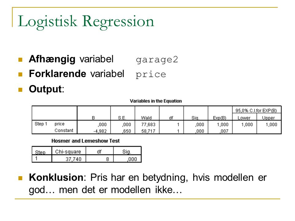Statistik II Lektion 5 Modelkontrol - ppt video online download