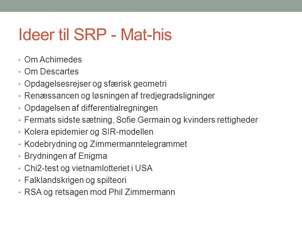 Ideer til SRP - Mat-his Om Achimedes Om Descartes