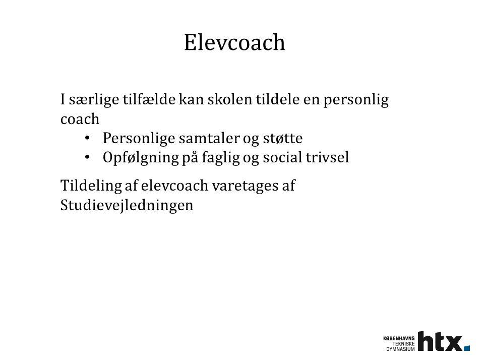 Elevcoach I særlige tilfælde kan skolen tildele en personlig coach