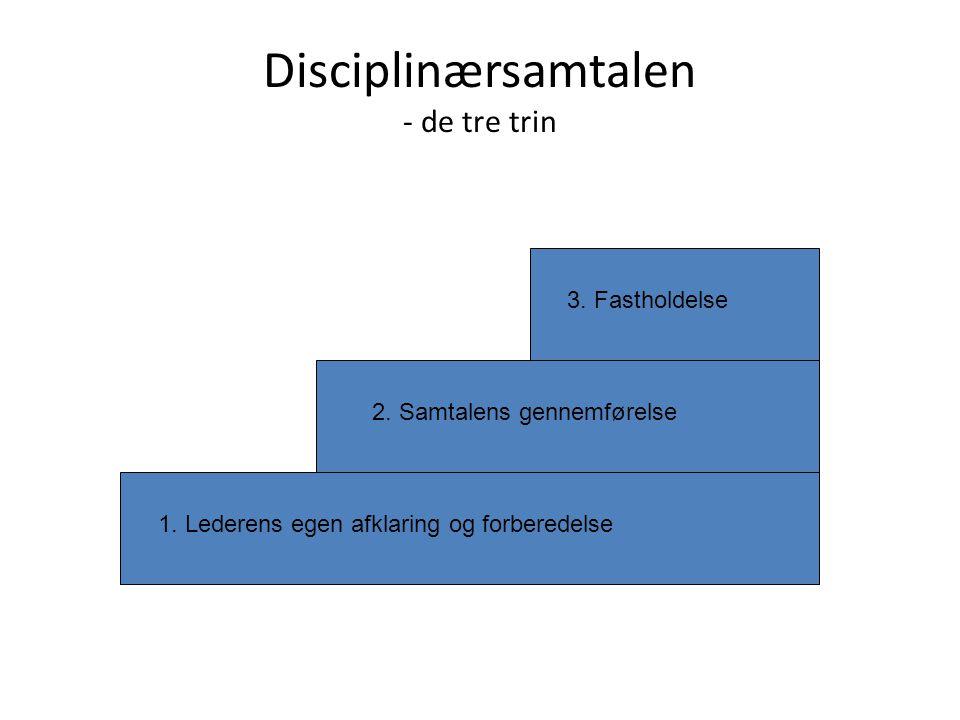 Disciplinærsamtalen - de tre trin