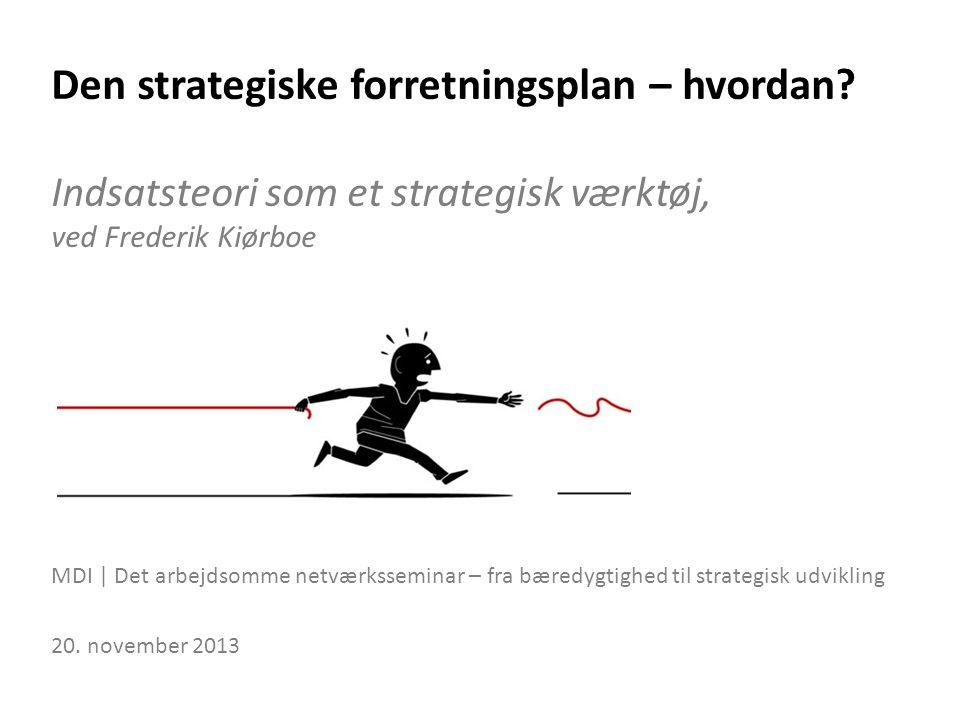 Den strategiske forretningsplan – hvordan