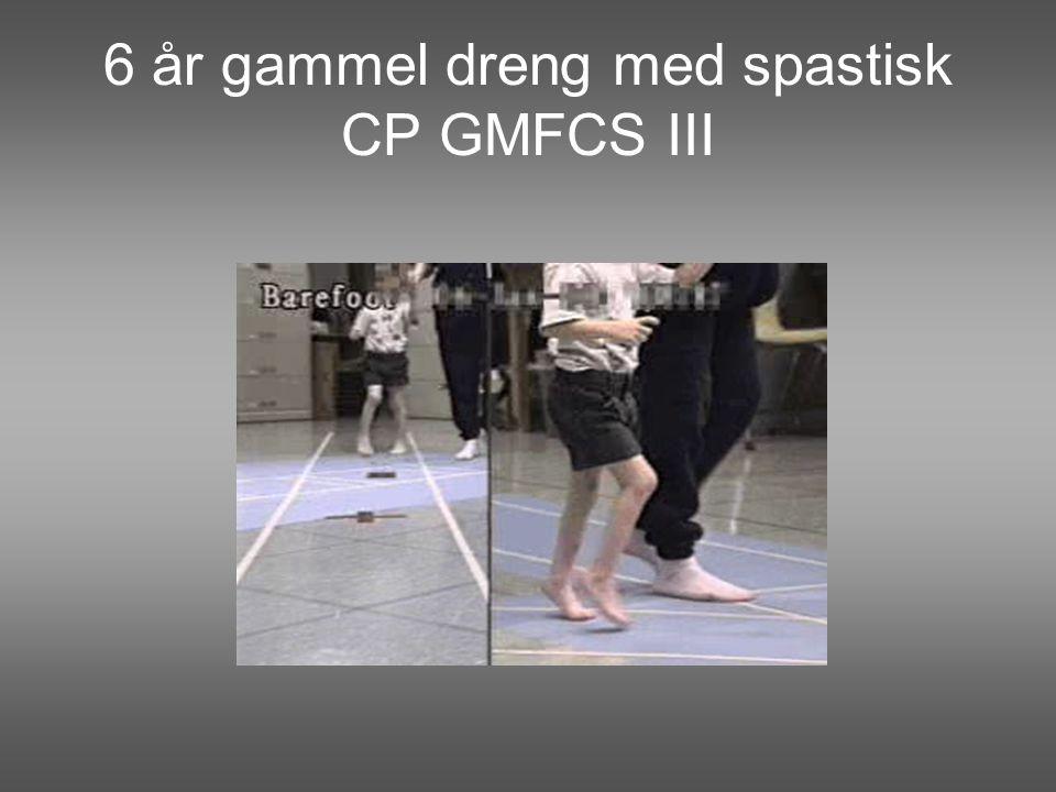 6 år gammel dreng med spastisk CP GMFCS III