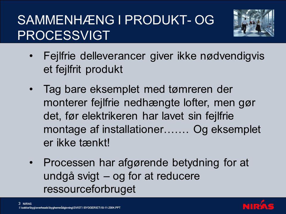 SAMMENHÆNG I PRODUKT- OG PROCESSVIGT