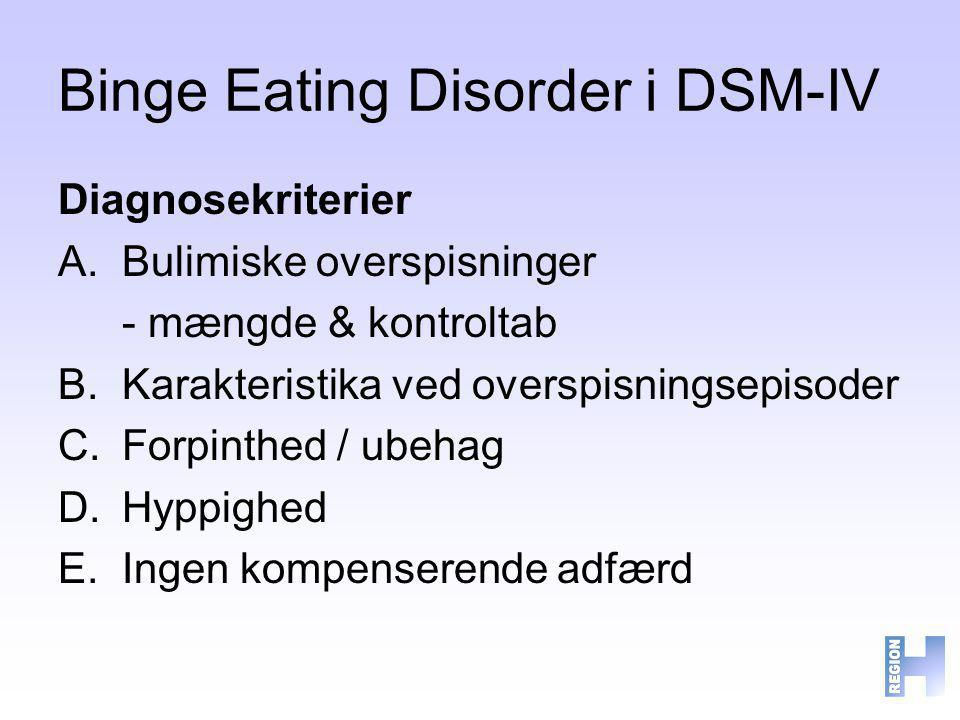 Binge Eating Disorder i DSM-IV