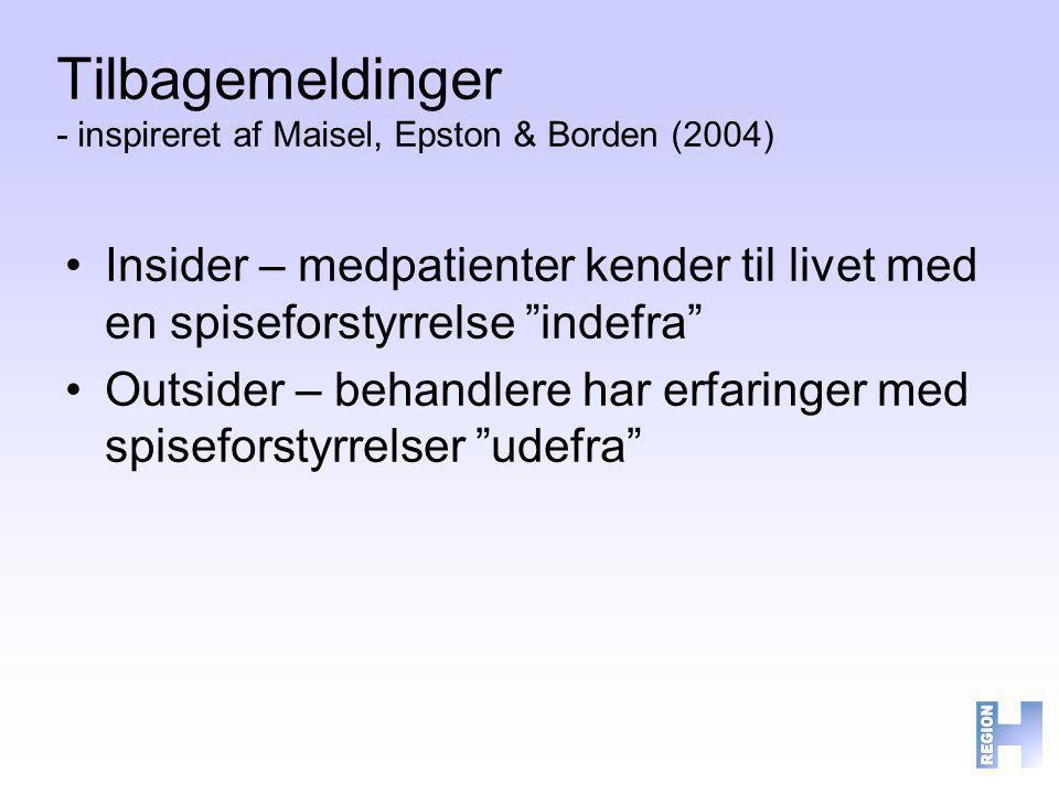 Tilbagemeldinger - inspireret af Maisel, Epston & Borden (2004)