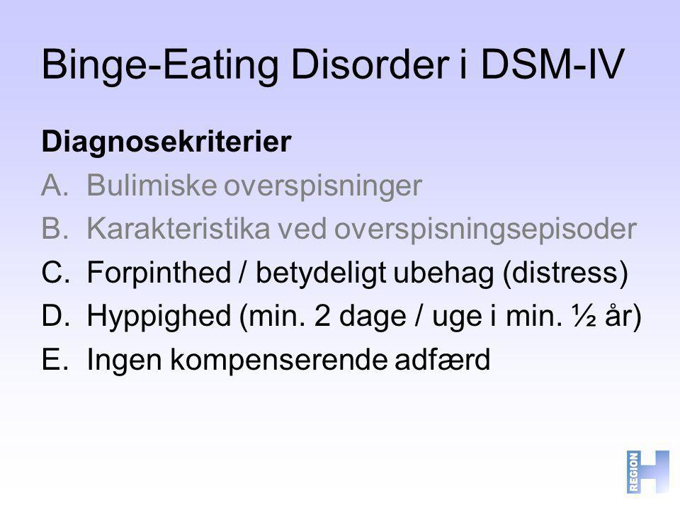 Binge-Eating Disorder i DSM-IV