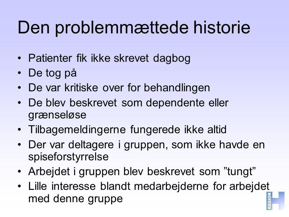Den problemmættede historie