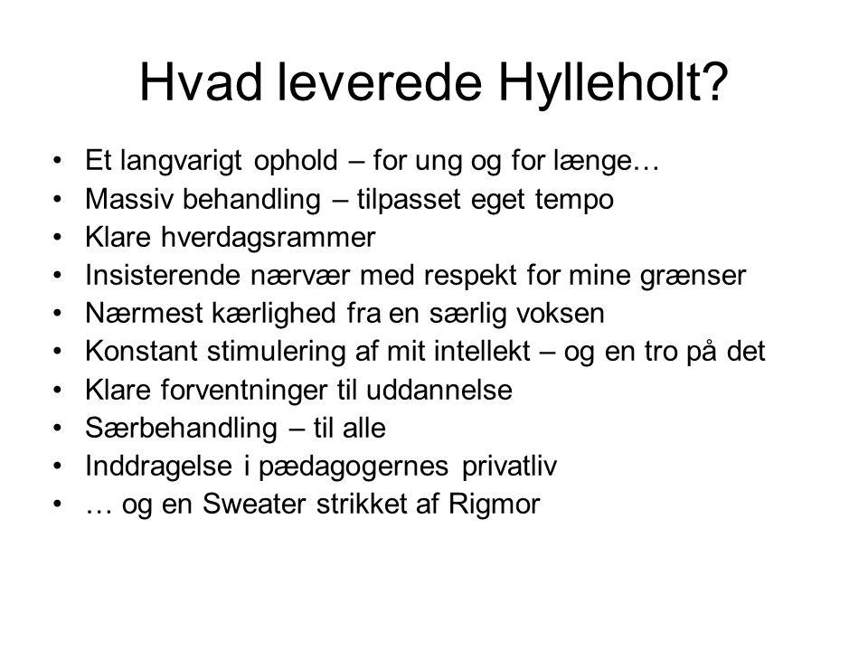 Hvad leverede Hylleholt