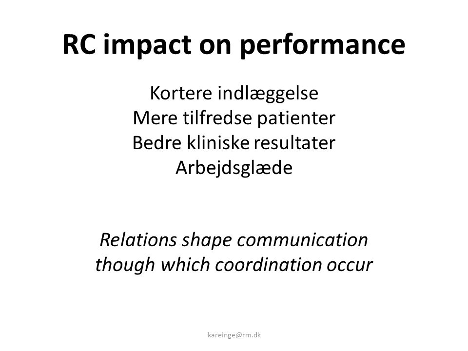 RC impact on performance