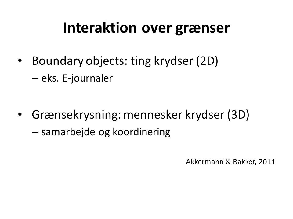 Interaktion over grænser