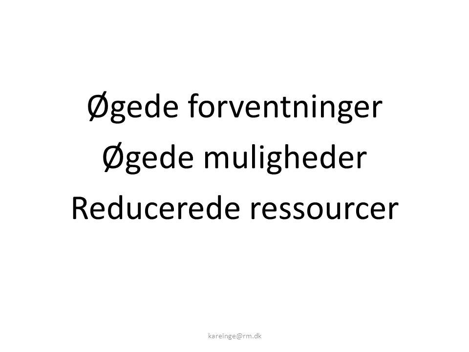Reducerede ressourcer