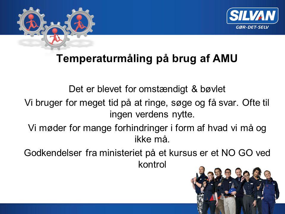 Temperaturmåling på brug af AMU