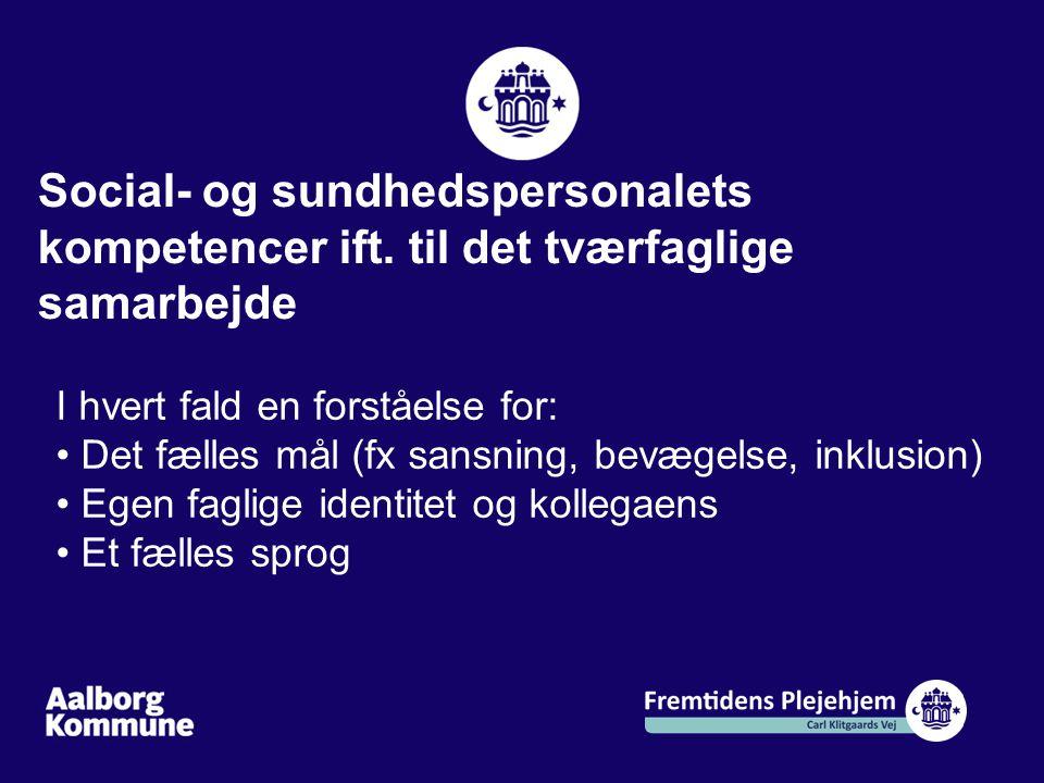 Social- og sundhedspersonalets kompetencer ift