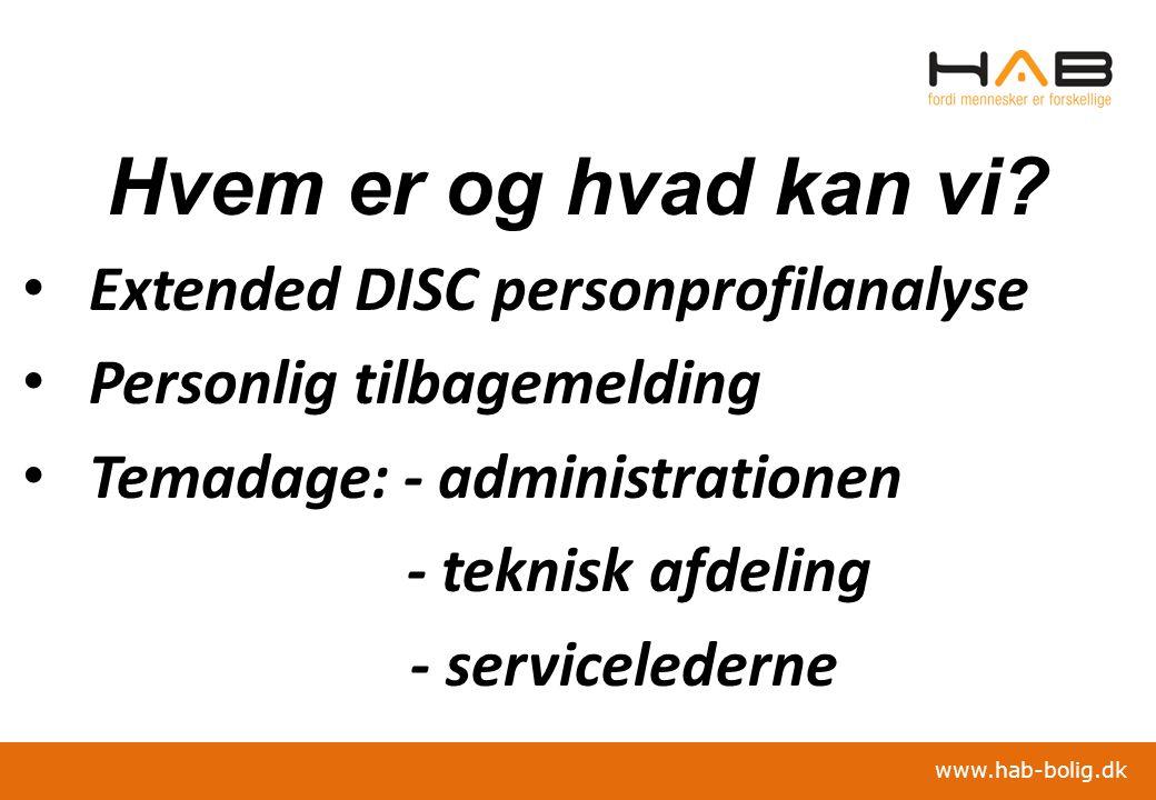 Hvem er og hvad kan vi Extended DISC personprofilanalyse