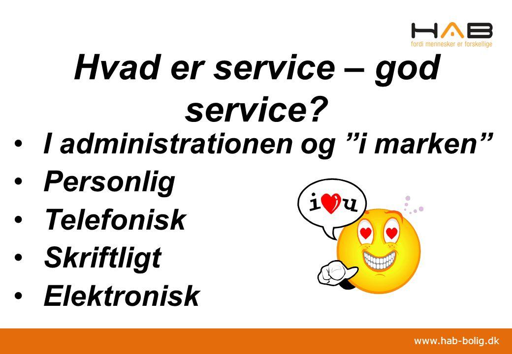 Hvad er service – god service