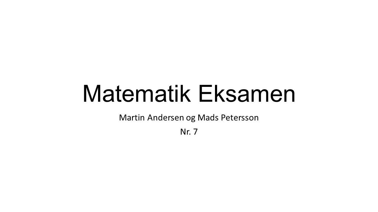 Martin Andersen og Mads Petersson Nr. 7