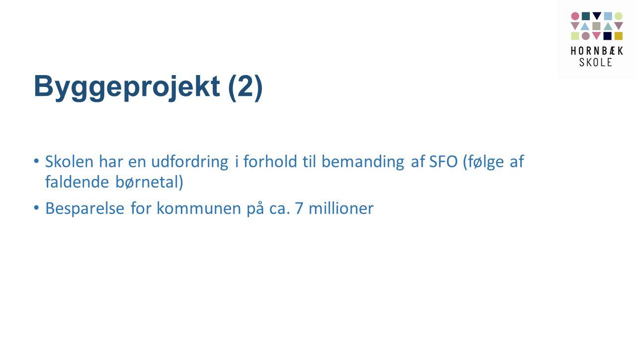 Byggeprojekt (2) Skolen har en udfordring i forhold til bemanding af SFO (følge af faldende børnetal)