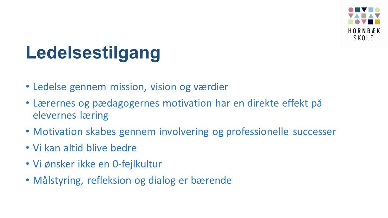 Ledelsestilgang Ledelse gennem mission, vision og værdier