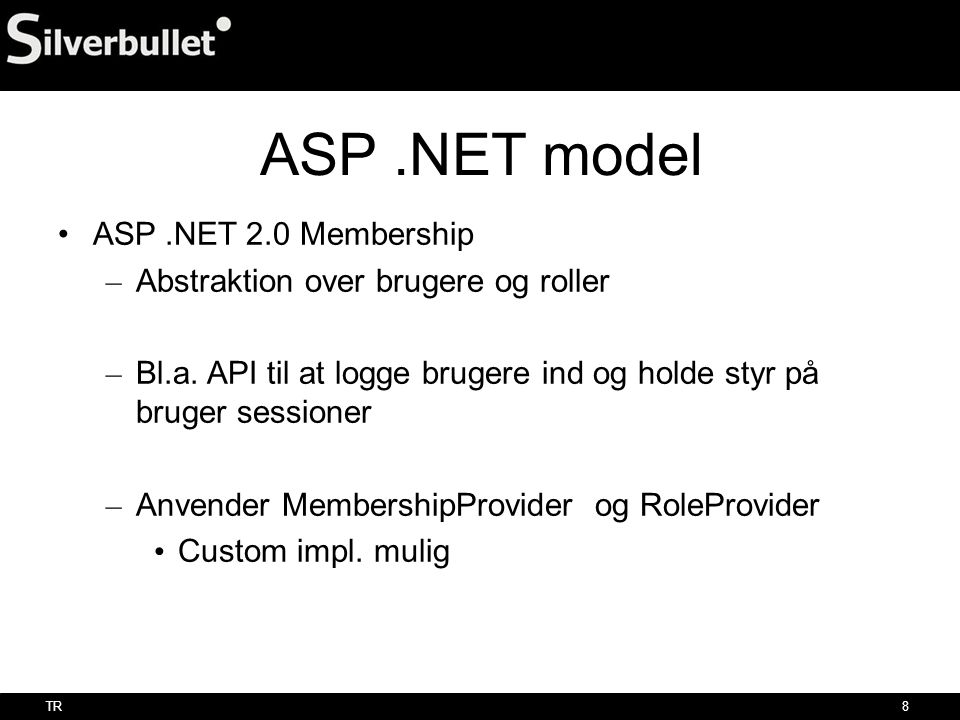 ASP .NET model ASP .NET 2.0 Membership