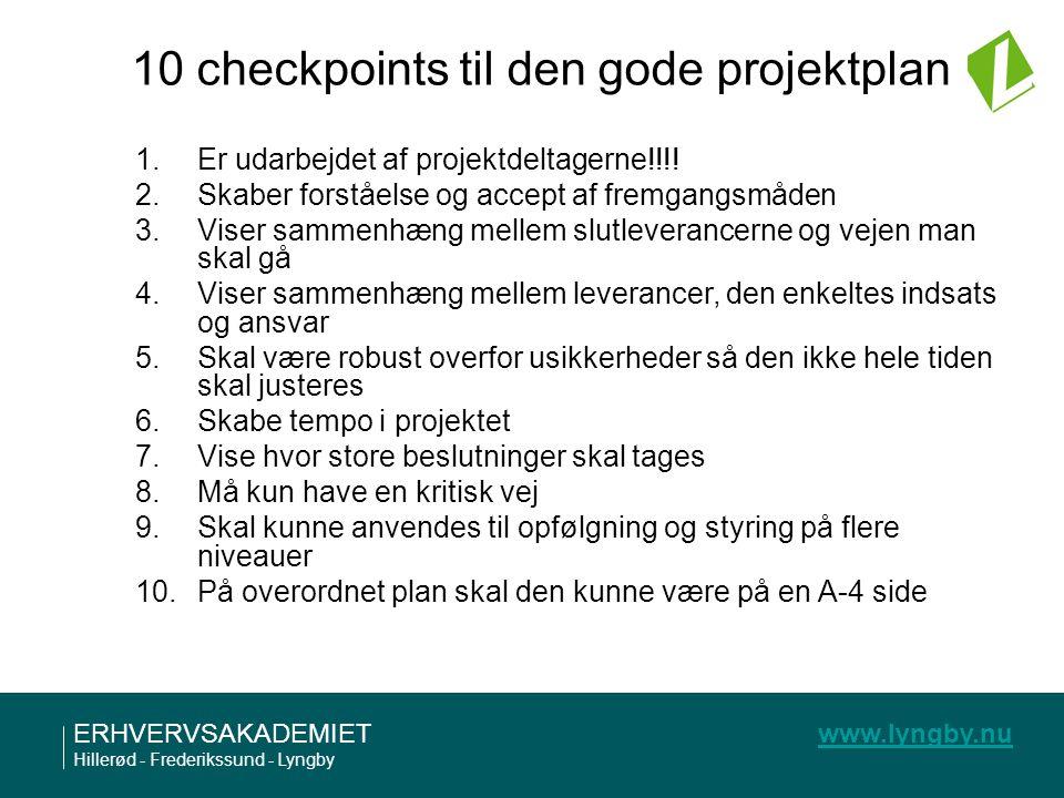 10 checkpoints til den gode projektplan